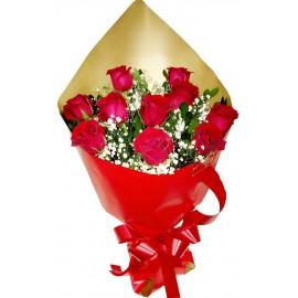 Buquê Médio com 10 Rosas