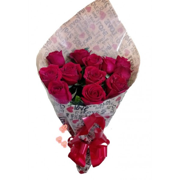 Buquê 12 Rosas Love
