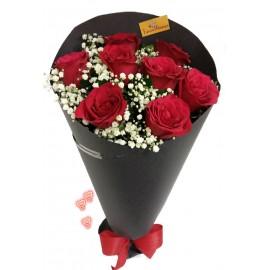 Buquê De 08 Rosas  Compacto