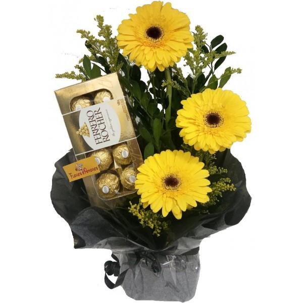 """Arranjo Floral """"Gérberas Amarelas"""""""