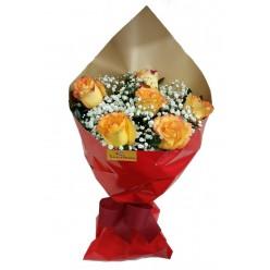 """Buquê De 6 Rosas """"Confetes De Amor"""""""