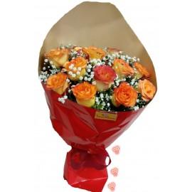 """Buquê 12 Rosas """"Luxus Amarelas"""""""