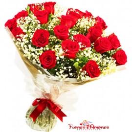 """Buquê 20 Rosas """"Luxus"""""""