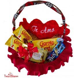 """Cesta Chocolate """"Te Amo"""""""