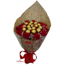 """Buquê 12 Rosas """"Love Ferrero"""""""