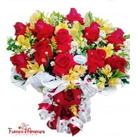 Arranjo Especial 12 Rosas Nacionais Dobradas
