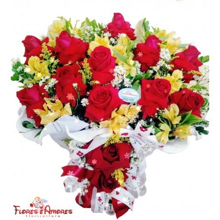 Arranjo 12 Rosas Nacionais Abertas