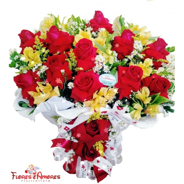 Arranjo 12 Rosas Importadas