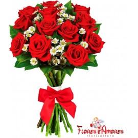 Buquê Especial 12 Rosas Importadas