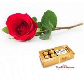 Rosa com Ferrero Rocher