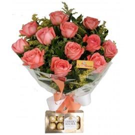 """Buquê """"Amores com 12 Rosas"""""""