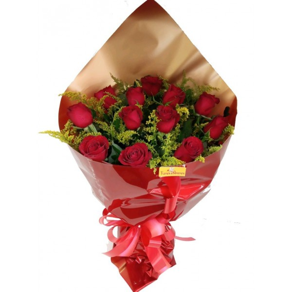 Amor com 12 Rosas + Caixa Bombons Nestlé