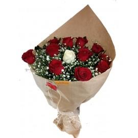 Buquê 12 Rosas Sincero Amor