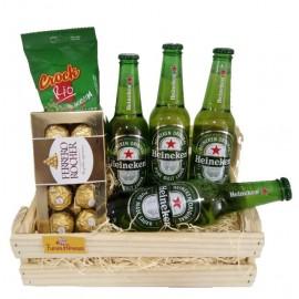 A Minha Heineken No Pack de madeira