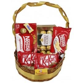 "Cesta ""Meio Kilo de Chocolate"""