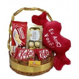 Cesta Amo Você Com Ferrero