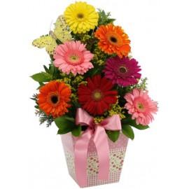 Arranjo Floral com Gerberas